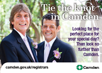 Marriages and civil partnerships in Camden