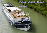 Hotel barge the Saint Louis cruises the beautiful calm waterways of South-West France